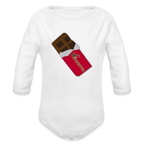 The Wonkeys Chocolate Edition - Body ecologico per neonato a manica lunga