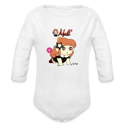 MALI'-BAMBOLINA PORTAFORTUNA - Body ecologico per neonato a manica lunga