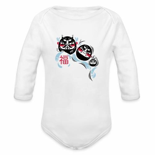 Daruma spirit - Body ecologico per neonato a manica lunga