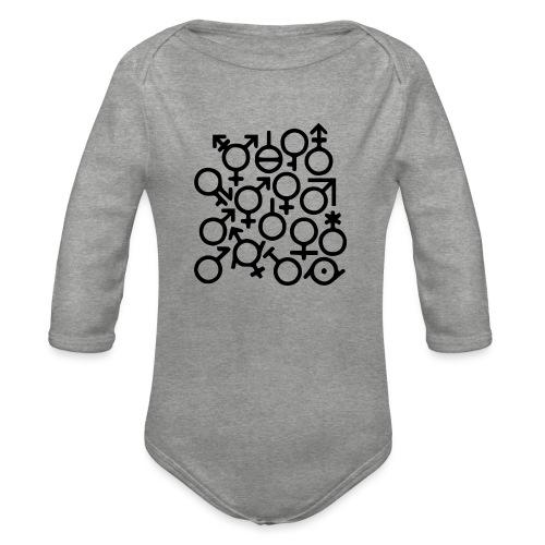Multi Gender B/W - Baby bio-rompertje met lange mouwen