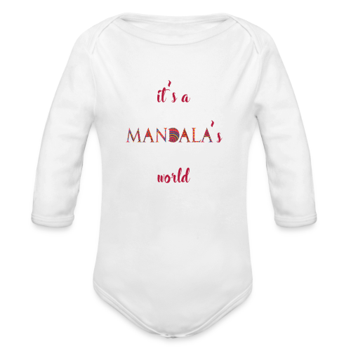 It's a mandala's world - Organic Longsleeve Baby Bodysuit