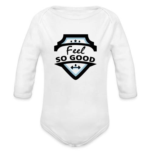 feelsogood white - Baby bio-rompertje met lange mouwen