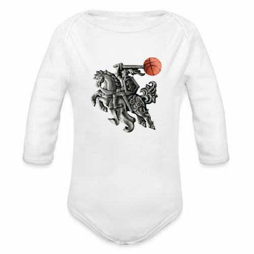 Lithuania basketball - Organic Longsleeve Baby Bodysuit