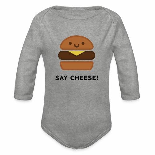 Say Cheese! - Organic Longsleeve Baby Bodysuit