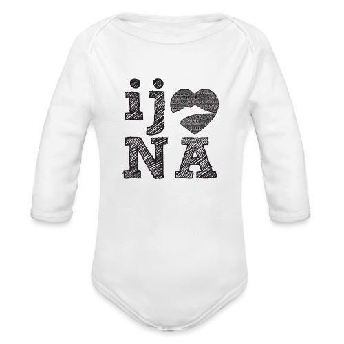 Ij amo Napule - Body ecologico per neonato a manica lunga