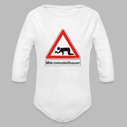 Warnschild Mikromodellbauer Auto - Baby Bio-Langarm-Body