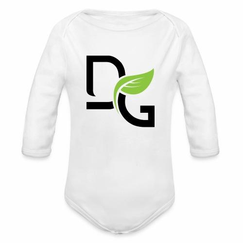 DrGreen Logo Symbol schwarz grün - Baby Bio-Langarm-Body