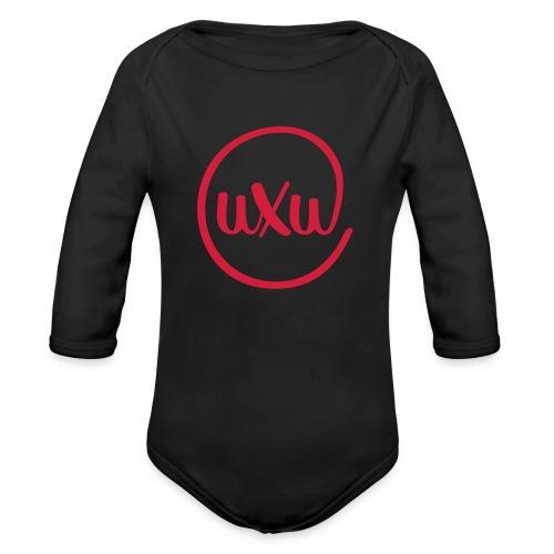 UXU logo round - Organic Longsleeve Baby Bodysuit