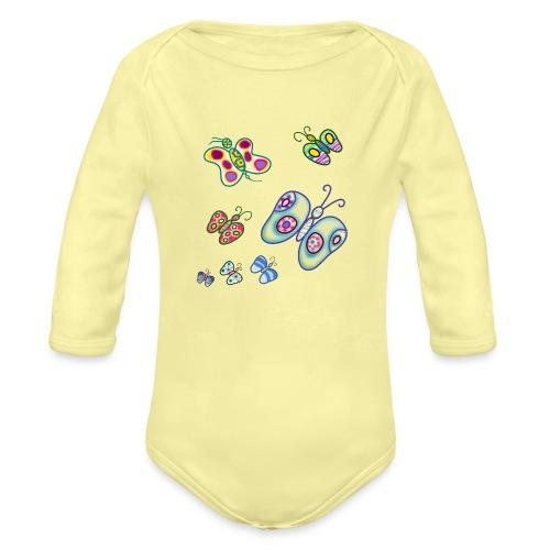 Allegria di farfalle - Body ecologico per neonato a manica lunga