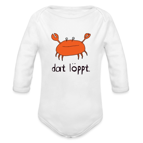 Ostfriesland FUN Shirt - Dat Löppt Strandkrabbe - Baby Bio-Langarm-Body