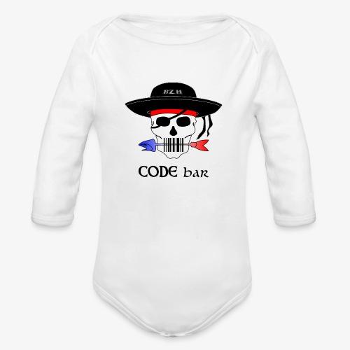 Code Bar couleur - Body Bébé bio manches longues