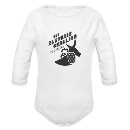 stallion badges - Organic Longsleeve Baby Bodysuit