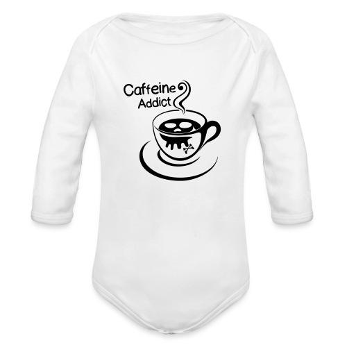 Caffeine Addict - Baby bio-rompertje met lange mouwen