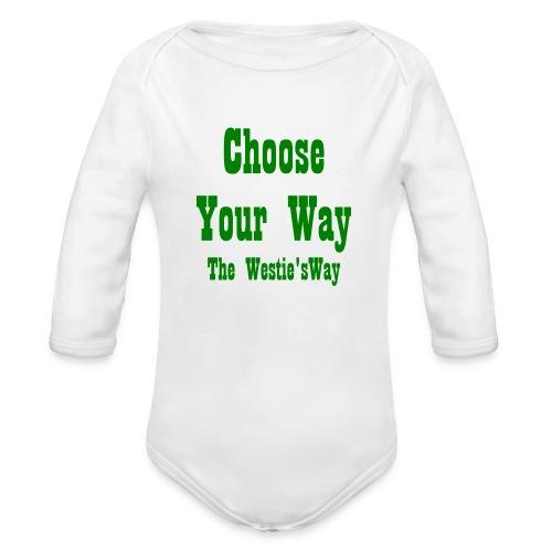 Choose Your Way Green - Ekologiczne body niemowlęce z długim rękawem