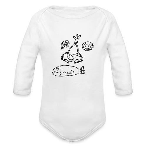 I Sea You - Organic Longsleeve Baby Bodysuit