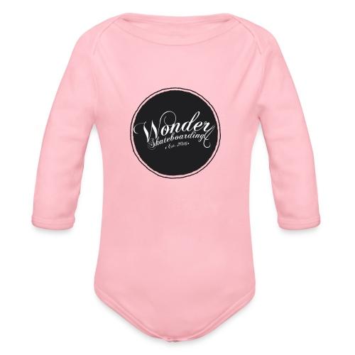 Wonder T-shirt - oldschool logo - Langærmet babybody, økologisk bomuld