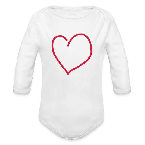 Herz_Red1 - Baby Bio-Langarm-Body