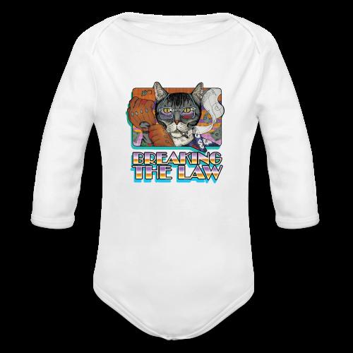 Crime Cat- Breaking the Law - Ekologiczne body niemowlęce z długim rękawem