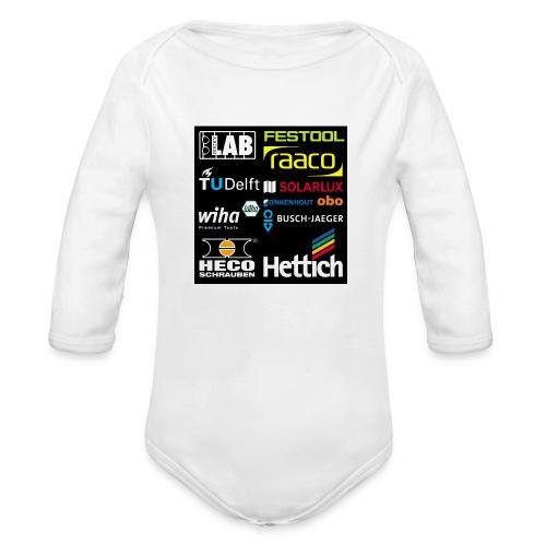 tshirt 2 rueck kopie - Organic Longsleeve Baby Bodysuit