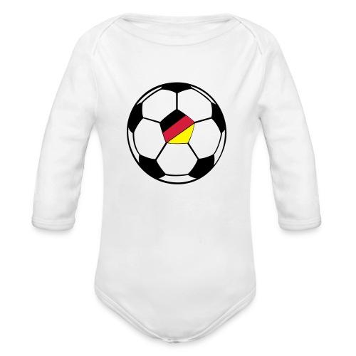 fussball deutschland - Baby Bio-Langarm-Body