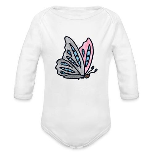 Fjäril - Ekologisk långärmad babybody