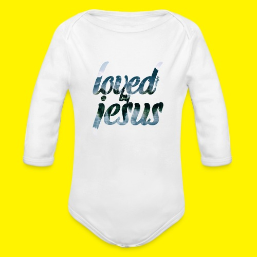 LOVED BY JESUS - Organic Longsleeve Baby Bodysuit