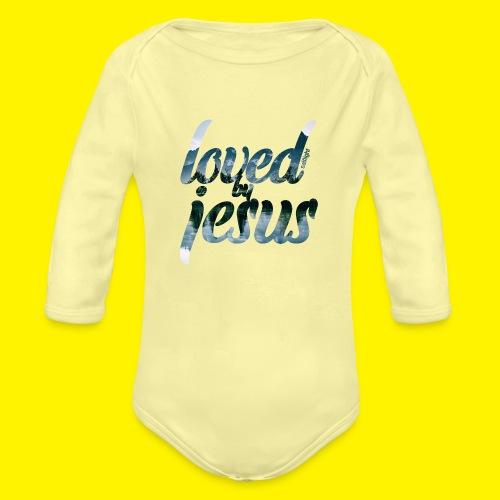 LOVED BY JESUS - Organic Longsleeve Baby Bodysuit