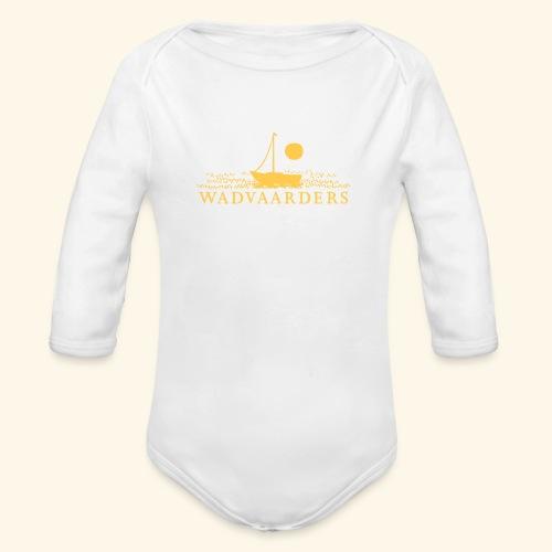 Wadvaarderslogo - Baby bio-rompertje met lange mouwen