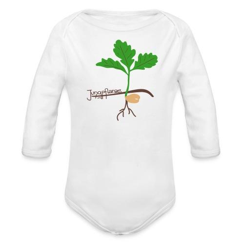 Eichen Jungpflanze - Baby Bio-Langarm-Body