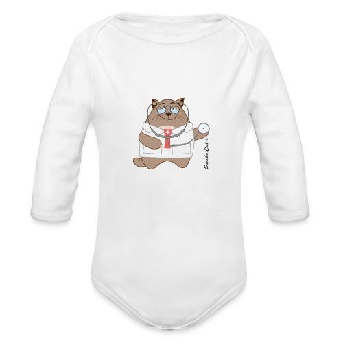 Katzen Arzt - Sancho Cat © - Baby Bio-Langarm-Body