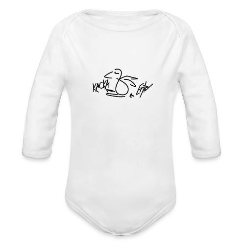 Kacka Ente schwarz - Baby Bio-Langarm-Body