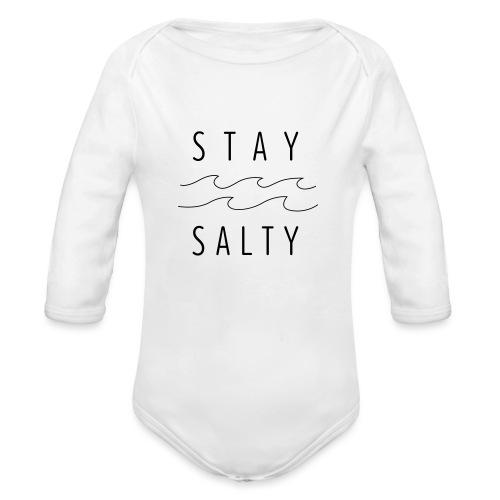 stay salty - Baby Bio-Langarm-Body
