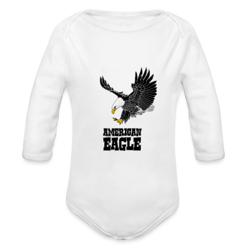 American eagle - Baby bio-rompertje met lange mouwen