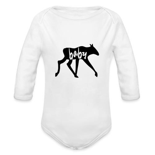 Baby Elch Skandinavien Familie Geschenk - Baby Bio-Langarm-Body