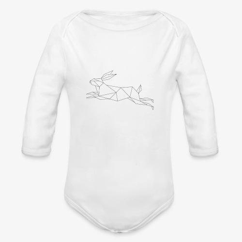 Hase geometrie, Tier geometrisch - Baby Bio-Langarm-Body