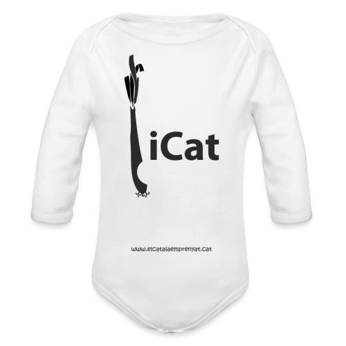 iCat - Body orgánico de manga larga para bebé