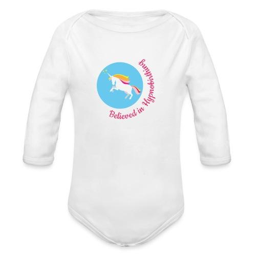 unicorn pink hypnobirth - Organic Longsleeve Baby Bodysuit