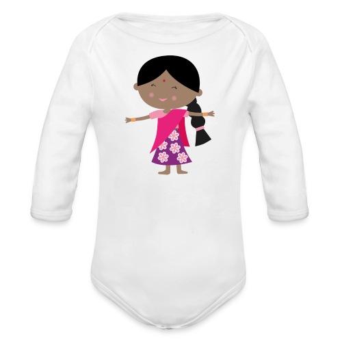 Happy Meitlis - Indien - Baby Bio-Langarm-Body