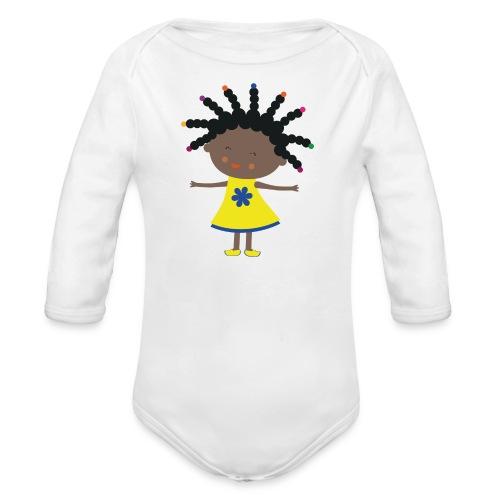 Happy Meitlis - Afrika - Baby Bio-Langarm-Body