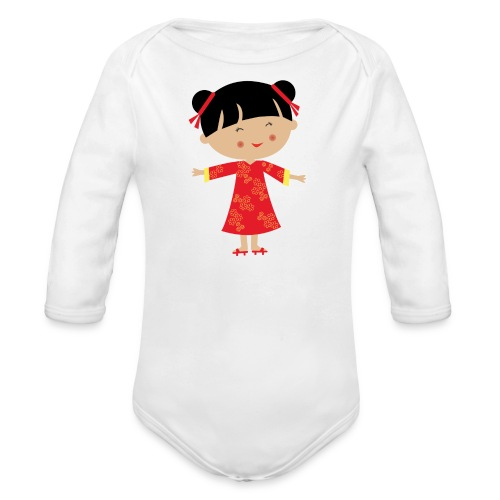 Happy Meitlis - China - Baby Bio-Langarm-Body