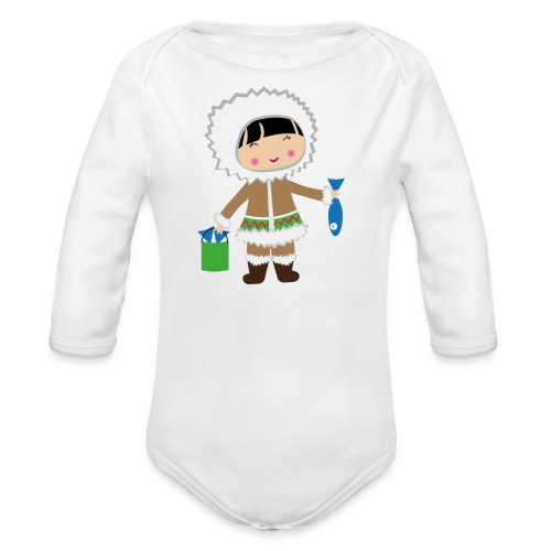 Happy Meitlis - Alaska - Baby Bio-Langarm-Body