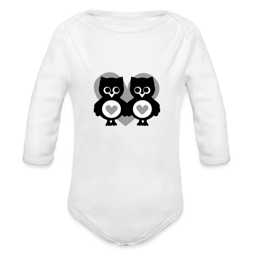 verliebte Eulen - Baby Bio-Langarm-Body