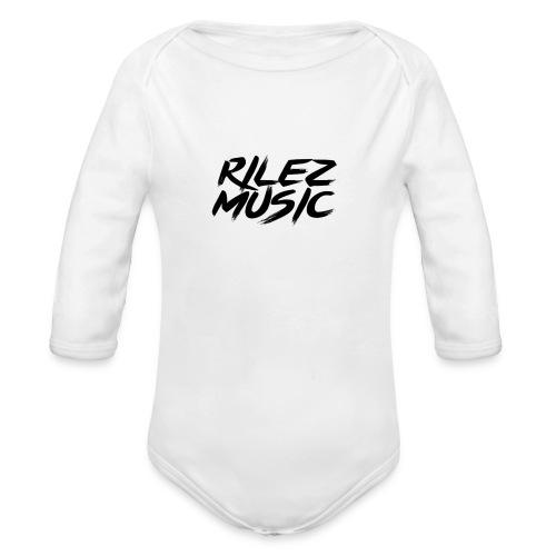 Camiseta de pico rilez - Body orgánico de manga larga para bebé
