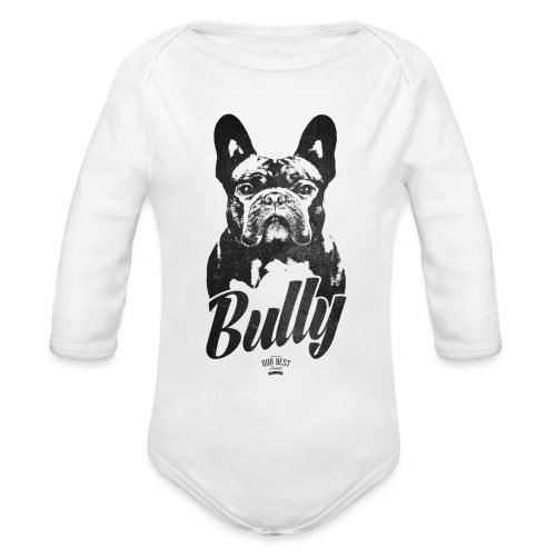 Bully - Französische Bulldogge Silhouette - Baby Bio-Langarm-Body