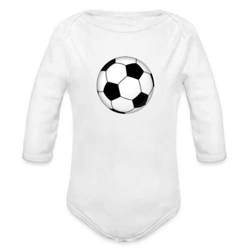 voetbal - Baby bio-rompertje met lange mouwen