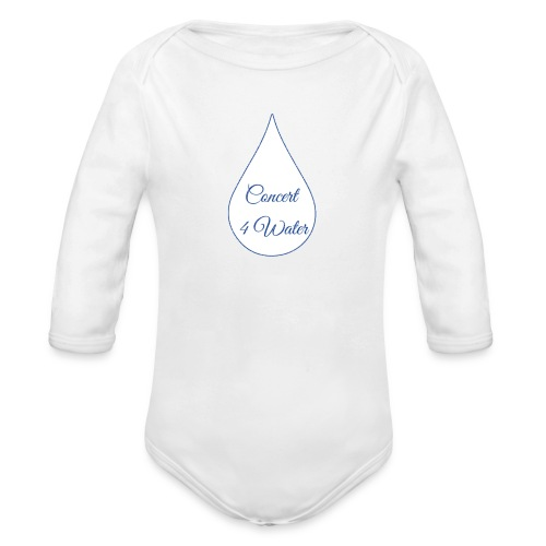 Concert 4 Water's Image Logo - Organic Longsleeve Baby Bodysuit