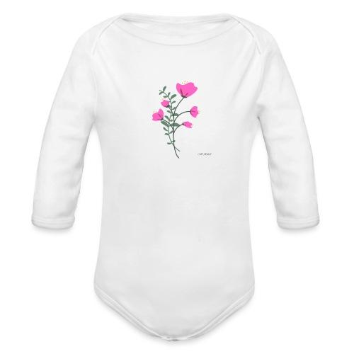 fleure violette - Body Bébé bio manches longues