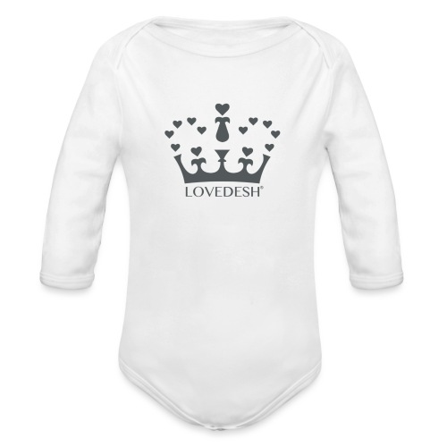 LD crown logo hearts png - Organic Longsleeve Baby Bodysuit