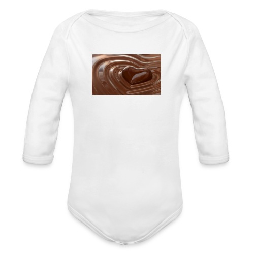 Choklad T-shirt - Ekologisk långärmad babybody