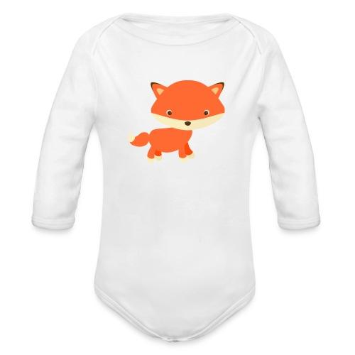 fox_1 - Baby bio-rompertje met lange mouwen